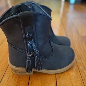 Navy Cat & Jack Cowboy/Cowgirl Boots, Sz 5 Toddler